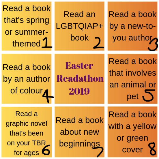 easter readathon table